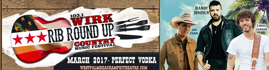 WIRK Rib Round Up: Randy Houser, Chris Janson & Jon Pardi at Perfect Vodka Amphitheatre