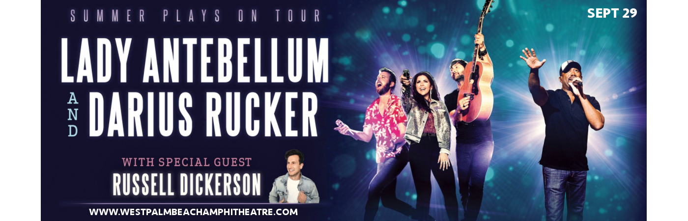 Lady Antebellum, Darius Rucker & Russell Dickerson at Coral Sky Amphitheatre