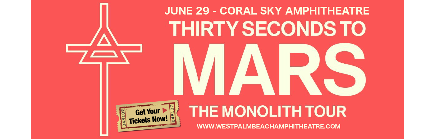 Seconds To Mars West Palm Beach