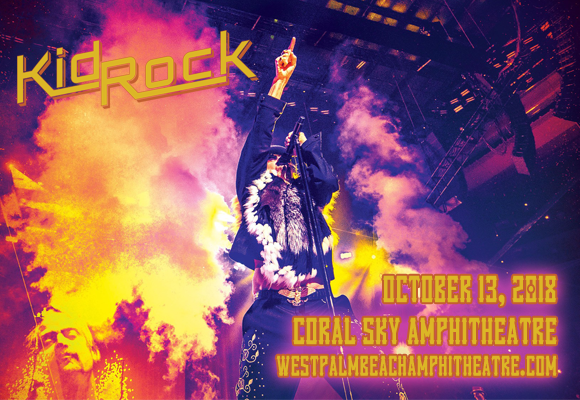 Kid Rock, Brantley Gilbert & Wheeler Walker Jr. at Coral Sky Amphitheatre