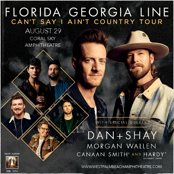 Florida Georgia Line, Dan and Shay & Morgan Wallen at Coral Sky Amphitheatre