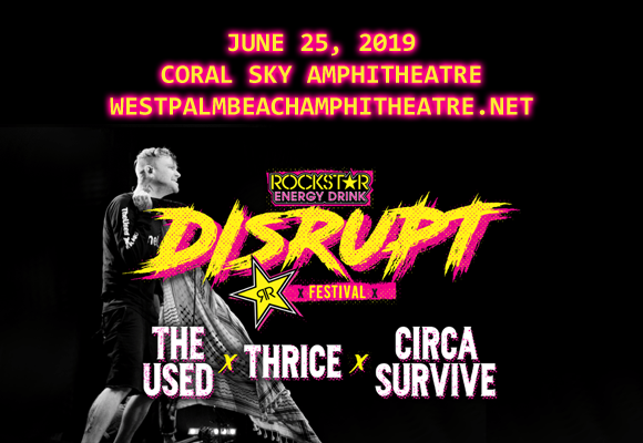 Disrupt Festival: The Used, Thrice, Circa Survive, The Story So Far & Andy Black at Coral Sky Amphitheatre