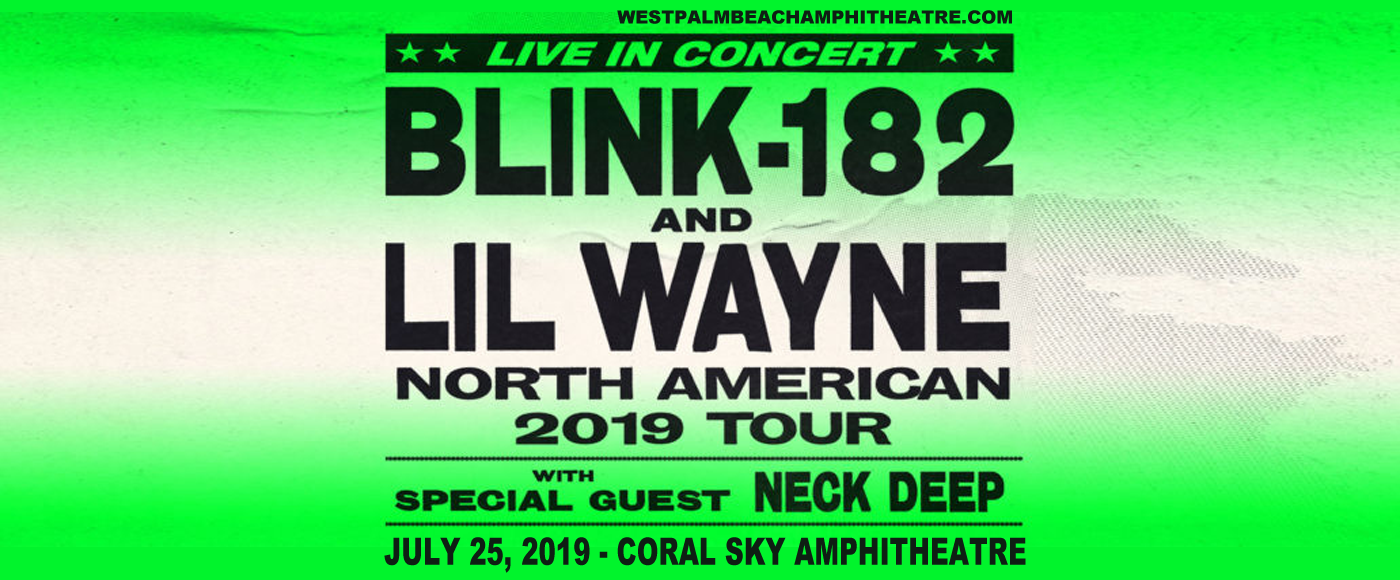 Blink 182 & Lil Wayne at Coral Sky Amphitheatre