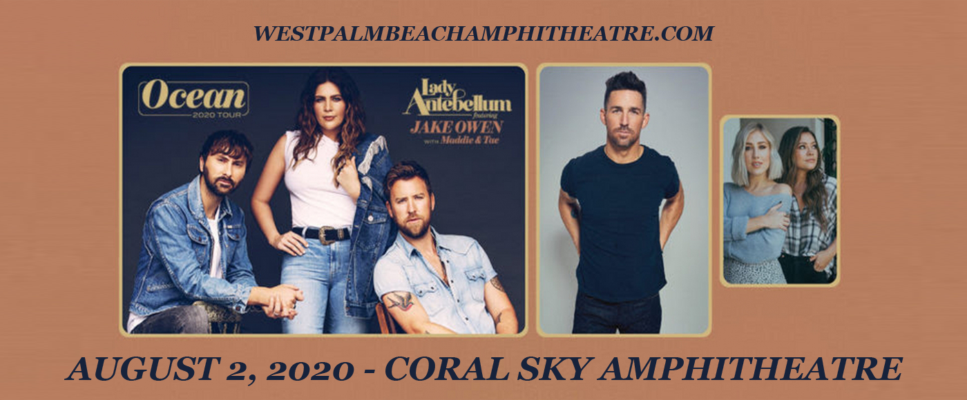 Lady Antebellum, Jake Owen & Maddie and Tae [CANCELLED] at iTHINK Financial Amphitheatre