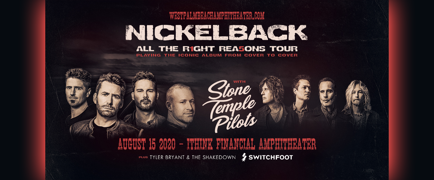 Nickelback, Stone Temple Pilots & Switchfoot [CANCELLED] at iTHINK Financial Amphitheatre