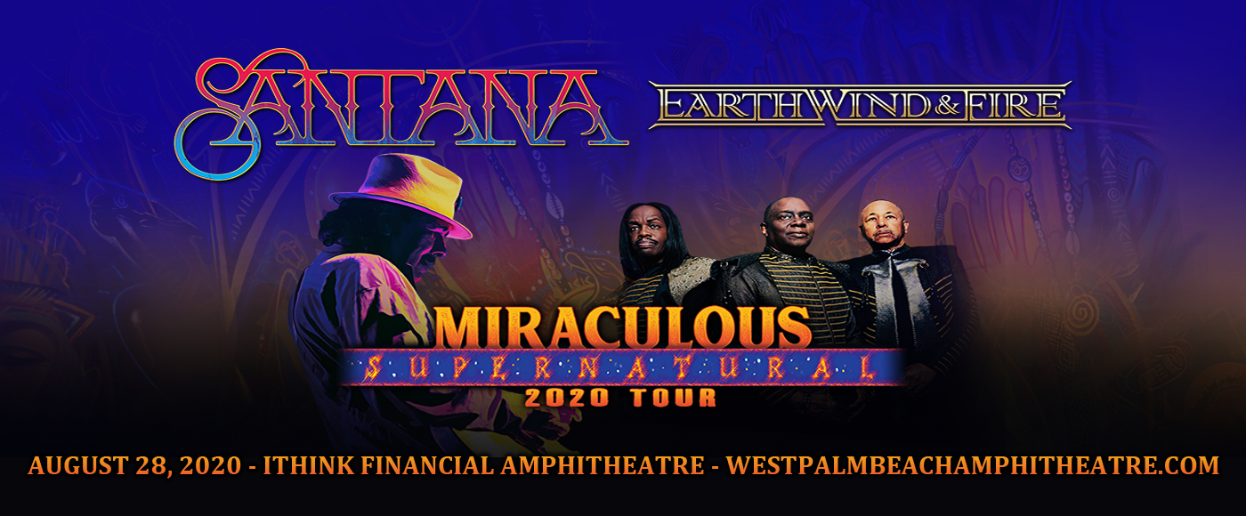 Santana & Earth, Wind and Fire [POSTPONED] at iTHINK Financial Amphitheatre